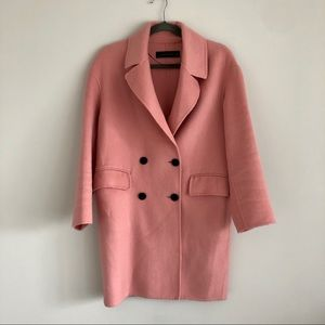 Zara pink double-breasted coat, handmade- size XS